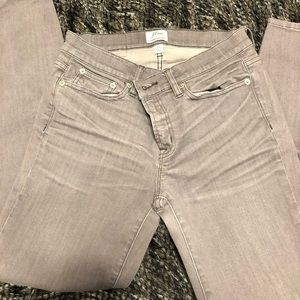 Gray Toothpick Jeans